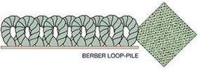 Berber loop-pile carpet